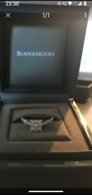 BEAUTIFUL BEAVERBROOKS 18CT WHITE GOLD .29CT DIAMOND RING COST £1000 N