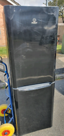 Black fridge freezer _ free delivery