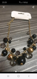 New Black and gold necklace