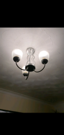 NEXT Ceiling Lights x2 Dining / Living Room Silver and Glass