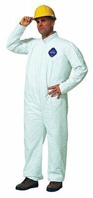 Dupont Tyvek Chemical Resistant Coverall Suits Ty120s With Open Wrists Ankles