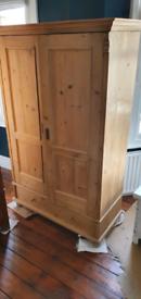 Wardrobe, vintage style pine