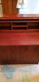 Mahogany style bureau desk