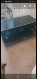 black hi gloss tv cabinet £30 ono