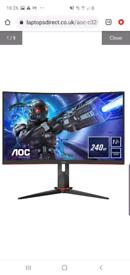 Aoc 31.5 inch 240hz freesync premium monitor