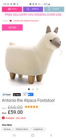 Antonio the alpaca footstool