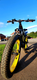 """26"""" Lebron Limited Edition e-Bike 500w 8Ah 48V Black and Gold Fat Tyre"""