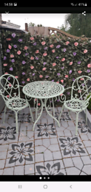 Metal garden/patio set