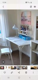 Ikea beautiful white desk with removable shelfs