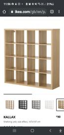 Ikea Kallax large cube shelves cabinet lights plus small cube storage