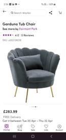 Garduno tub chair ( brand new) in grey