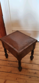 Antique arts and crafts foot stool