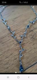 Vintage sapphire necklace