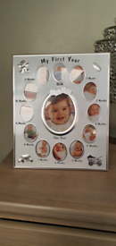 Photo frame of 1st year of baby's life
