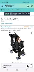 Display4top Pet Travel Stroller Dog Cat Pushchair Pram Jogger Buggy Wi