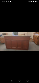 Solid mahogany reception desk