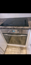 Hotpoint Fan Oven Black Electric Induction Hob All Working Great
