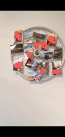 Photo Frame bike wheel art Home decor upcycled