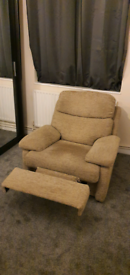 Reclining sofa single