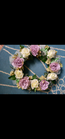 Pretty Floral Door Wreath