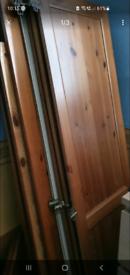 Wardrobe ikea Leksvik 3 doors pine