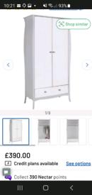 Mirror front wardrobe (white)
