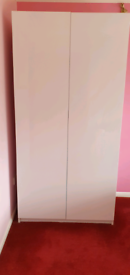 Two Double High Gloss Wardrobes £100.00 Each £150.00 for the two