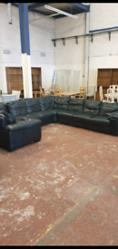 Free Black leather couch