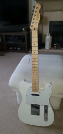 Squier By Fender Telecaster in Arctic White. 2020.