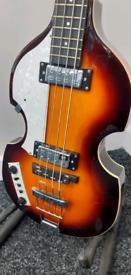 left handed hofner bass viola guitar