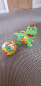 Vtech feed me Dino and grow and learn light up ball