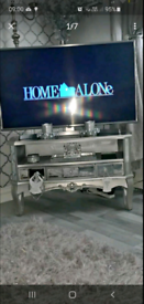 Fabulous Silver Mirrored TV Media Cabinet Brand New