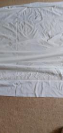 "Long length net curtain 54"" drop 432"" wide good condition"