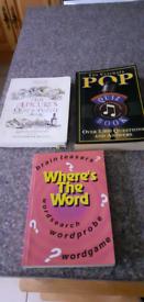 Three puzzle books very good condition