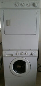 For sale stackable apartment size washer & dryer.