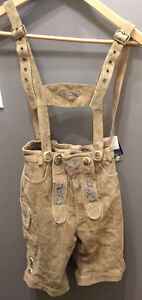Size 140 New With Tags Lederhosen Leather NWT