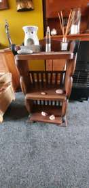 Mahogany shelving rack