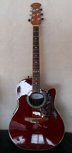 OVATION CELEBRITY CC057 ACOUSTIC/ELECTRIC GUITAR W/GIG BAG