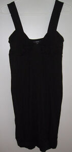 BLACK JERSEY DRESS FROM JACOB, SIZE 4 (SMALL/MEDIUM)
