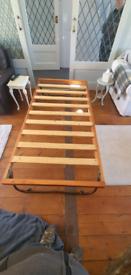 fold away flat single bed