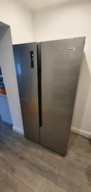 Fridgemaster MS91518FFS American Fridge Freezer - Silver