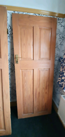 4 panel solid oak doors (3 available)