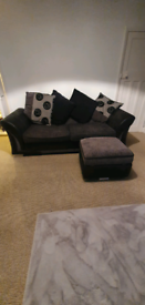 Dfs 4 seater setee and foot stool with storage