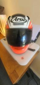 ARAI MOTORBIKE HELMET SIZE MEDIUM DARK VISOR