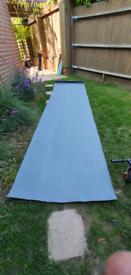 Mineral grey roof felt. 3.7m X 1m