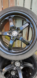 4 alloy wheels with tyres 5x108x17
