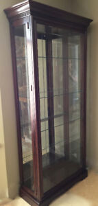 CHINA CABINET-Mahogany dispaly cabinet in excellent condition