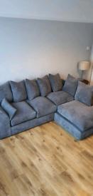 Grey corner sofa (right L shape)