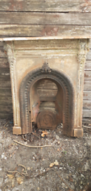 Late 1800s Cast Metal Fire Surround