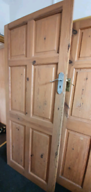 6 panel solid oak doors (2 available)